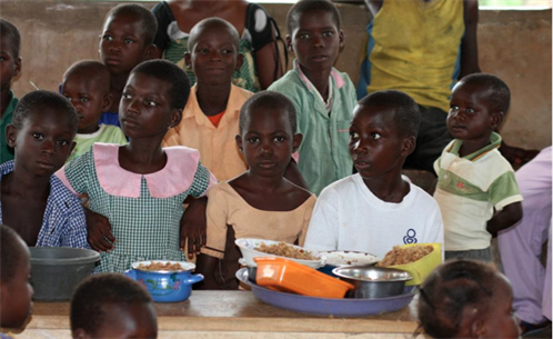 Children in Ghana benefitting from HHAF's food programme
